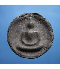 พระจันทร์ลอย หลวงปู่ลำภู วัดบางขุนพรหม ปี 2502 เนื้อดำ (ขายแล้ว)