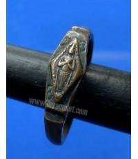 แหวนเกราะเพชร พระปางรำพึง ประจำวันศุกร์ พิธีพระรอดละโว้ หลวงพ่อเดิม ปลุกเสก 2482 (ขายแล้ว)