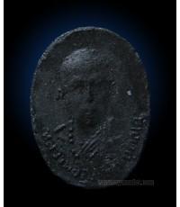 รูปเหมือนหลวงปู่สุภา กันตสีโล ปี 2506 เนื้อดำ ติดรางวัลที่ 2 (ขายแล้ว)