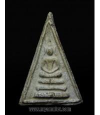 พระผงสมเด็จสามเหลี่ยม หลวงปู่นาค วัดระฆัง ฝังตะกรุด 3 ดอก ปี 2485 (ขายแล้ว)