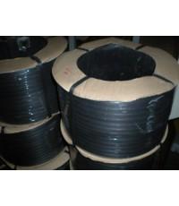 สายรัดพลาสติก PP สีดำขนาด  12 mm. น้ำหนัก 7.5 Kg/ม้วน