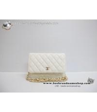 กระเป๋า ชาแนล   :: Chane Wallet on ChAiN (WOC) lambskin Top Mirror