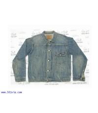Used ลีวาย ย้อนยุครุ่นปี 1936 jacket BIG E 506 XX ฟอก USA ปี 2000 ไซส 44 หรือ L