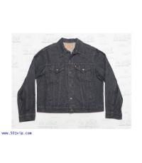 Used ลีวาย Jacket 70506 0259 ยีน สีดำ ป้ายส้ม USA ปี 1980 ไซส 46 หรือ XL