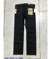 New RRL Slim fit super black ริมแดง W 34 L 32