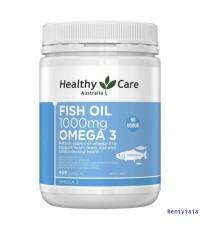 น้ำมันปลาโอเมก้า 3 400 แคปซูล (Healthy Care Fish Oil 1000mg Omega 3 400 Capsules)