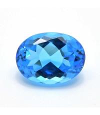 สวิสบลูโทพาซ (Swiss Blue Topaz) 23.03ct