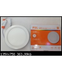 ดาวไลท์แอลอีดี LED พร้อมหลอด FSL 18วัตต์ แสงขาว ขนาด8นิ้ว