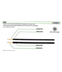 สายไฟ  สายคอนโทรล VSF 4 mm  สีขาว 100เมตร