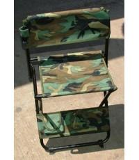 เก้าอี้สนาม,เก้าอี้เดินป่า,เก้าอี้ Outdoor , เก้าอี้แคมป์ปิ้ง , ลายพรางวู๊ดแลนด์ แบบที่ 2