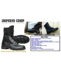 รองเท้าจังเกิ้ลทหารสีดำ,MIL-SPEC,HOT WEATHER,BLACK JUNGLE BOOT PADDED COLLAR,IMPERIO,