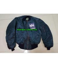 เสื้อแจ็คเก็ตไฟท์เอ็มเอวัน,สีน้ำเงิน,JACKET,FLYER\'S MAN INTERMEDIATE,MA-1,ALPHA NAVY
