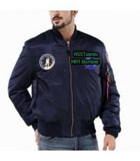เสื้อแจ็คเก็ตนักบิน ASSTseries สีกรมท่า, Jacket Pilot MA1 Bomber