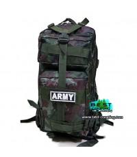 เป้ทหาร 3P,กระเป๋าเป้เดินทางท่องเที่ยว,ลายพราง,ลายดิจิตอลทบ.