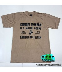 เสื้อยืด T-Shirt ,ลาย Combat Veteran