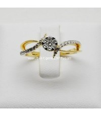 RM255แหวนเพชรกระจุกก้านไขว้