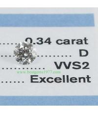 GIA D34_1 เพชรร่วงขนาด 0.34ct. 3EX