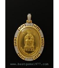 0140429 BN/E ตัวอย่างงานตลับลายจีน เหรียญเจ้าแม่ทับทิมฝังเพชร