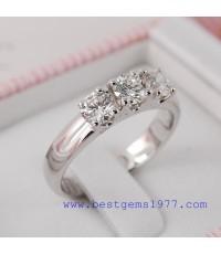 0140527 ตัวเรือนแหวนทองขาวสั่งทำ
