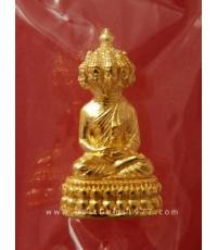 0160519/1SL พระเศรษฐีนวโกฎิ รุ่นมหาเศรษฐี บารมีฟู ออกปี2553 เนื้อทองแดงชุบทอง