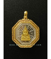 0170614EOงานตลับขอบลายจีนสำหรับบรรจุเหรียญพระพุทธชินราชทรง 8เหลี่ยม