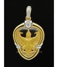 M762-1903 ครุฑทองคำ99.9 หลวงพ่อวราห์ รุ่นมหาเศรษฐี