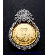 0191121EO งานกรอบเข็มกลัดสั่งทำ สำหรับบรรจุเหรียญทอง ที่ระลึกพระราชพิธีถวายพระเพลิงพระบรมศพ ร.9