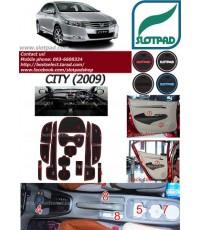 ผ้ายางปูพื้นรถยนต์ SLOTPAD สำหรับ รถยนต์ HONDA City
