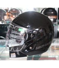 Harley Davidson Mens Helmet 3/4 Trail Retractable Sun Shield Gloss Black 98372-12VM