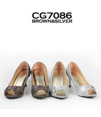 รองเท้าส้นสูง คัทชู สำหรับทำงาน CG7086