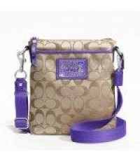 กระเป๋า Coach 19914 LEATHER PENNY SHOULDER PURSE - ultra violet