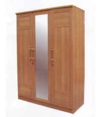 Ben150A (KS) ตู้เสื้อผ้า 3 ประตูมีกระจกเงา ขนาด 150 ซ.ม.
