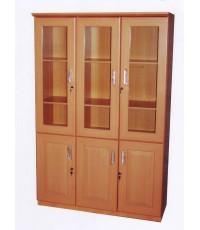 ตู้เก็บเอกสาร ตู้โชว์ 3 ประตู ขนาด 120*40*180 ซม. งานสวยค่ะ