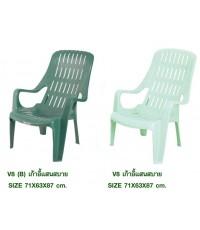 เก้าอี้พลาสติกแสนสบาย หลังพิงสูง นั่งสบายค่ะ