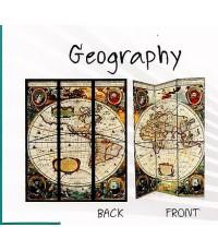 ฉากกั้นไม้ ฉากไม้รุ่น Geography