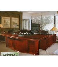 ROYAL ชุดโต๊ะทำงานผู้บริหาร พร้อมโต๊ะคอมด้านข้าง ขนาด 1.80 เมตร สวยมากค่ะ