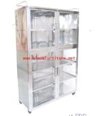 ตู้กับข้าว ตู้เก็บจาน สเตนเลสแท้ ขนาดใหญ่สูง 160 ซม.