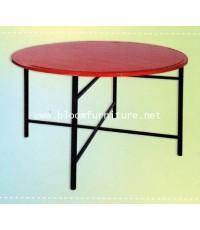 โต๊ะพับเหล็กกลม ขนาด 116 ซม. ขาถอดแยกจากหน้าโต๊ะได้