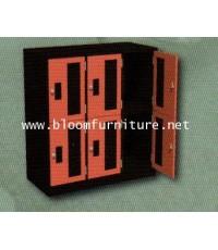 I-Locker ตู้ล็อกเกอร์ไม้ 6 บานประตู   ความสูง 91.5 ซม.