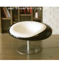 เก้าอี้สไตล์โมเดิร์น เก้าอี้โครงขาเหล็ก เบาะหุ้มหนัง PU มีสีขาว, แดง และ ดำ