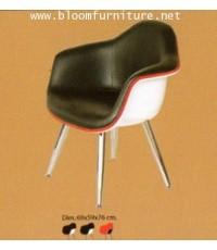 เก้าอี้สไตล์โมเดิร์น เก้าอี้โครงขาเหล็ก เบาะหุ้มหนัง PU