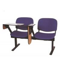 DT066 เก้าอี้แลคเชอร์แถว โครงเหล็กที่นั่งหุ้มหนังหรือผ้า 2 - 4 ที่นั่ง *รับประกันราคาถูกที่สุด*