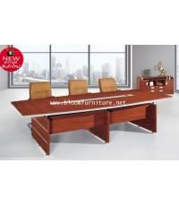 *พร้อมส่ง* โต๊ะประชุมงานไม้ หน้าโต๊ะมีรูร้อยสายไฟ สวยหรู ขนาด 300*140*76 ซม.
