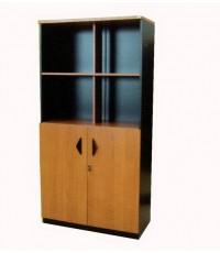 ST ตู้เก็บเอกสารสูง บนโล่งด้านล่างมีประตูปิด ทุกชั้นวางแฟ้มได้ ผิวเมลามีนอย่างดีค่ะ