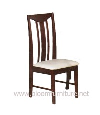 เก้าอี้อาหารไม้ยางพารา ที่นั่งเสริมเบาะหุ้มหนัง สวยแข็งแรง (C203)