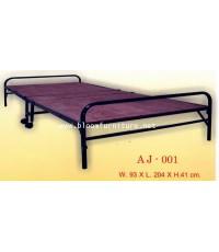 เตียงไม้อัดพับ มีล้อเลื่อน สะดวกในการเคลื่อนย้าย แข็งแรงค่ะ