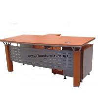 ชุดโต๊ะผู้บริหาร ขนาด 180 ซม. พร้อมตู้ลิ้นชักเก็บของ และ โต๊ะต่อข้าง
