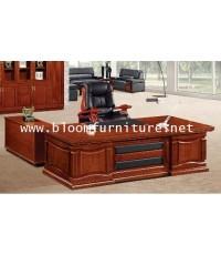 Master II ชุดโต๊ะผู้บริหารตัวแอล ตู้ด้านข้างและตู้ลิ้นชักล้อเลื่อนใต้โต๊ะ ขนาด 2 เมตร