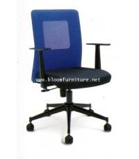 ASH-ME01  เก้าอี้สำนักงานโครงเหล็ก ที่นั่งหุ้มผ้า หลังพิงตาข่าย มีโช๊คไฮโดรริกปรับสูงต่ำ
