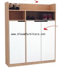 ตู้เก็บรองเท้า 3 ประตู มีให้เลือก 3 สี ขนาด 90*30*120 ซม.